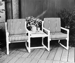 Free Patio Furniture Pipe Creations Custom Pvc Pipe Patio Furniture A Rust Free Patio