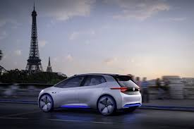 volkswagen volkswagen id more details of all electric concept car at paris