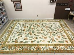 Kirman Rug Large Chindia Oriental Sculpted Hand Woven Wool Area Rug 8 75 Ft X