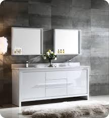 Bathroom Vanity 72 Double Sink Fresca Fvn8172wh Allier 72