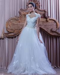 online shop white tulle applique lace gowns bohemian wedding dress