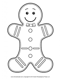 gingerbread man coloring page fablesfromthefriends com