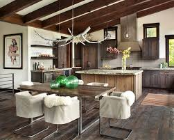 Rustic Modern Dining Room Rustic Modern Dwelling Nestled In The Northern Rocky Mountains