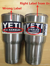 Coffee Mugs Wholesale With Original Logo Label Yeti Tumbler Rambler Cups Sports Cars