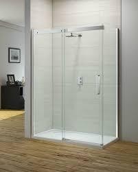 gravity sliding door with side panel ionic showering