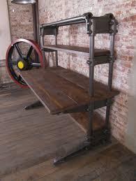 vintage industrial cast iron and wood workstation desk at 1stdibs