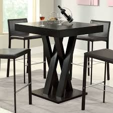 Square Dining Room Tables by Modern 40 Inch High Square Dining Table In Dark Cappuccino Finish
