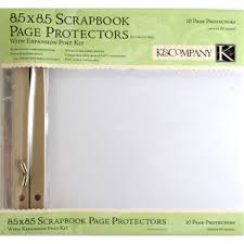scrapbook page protectors k and company 8 5 x 8 5 clear page protector refill kit