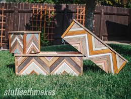 the original recycled wood chevron planter box stuff seth makes