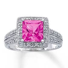 pink sapphires rings images Jared lab created pink sapphire ring square cut 10k white gold jpg