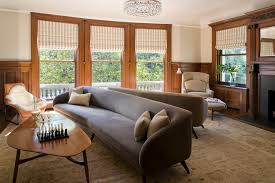 one cushion sofa family room modern with fluted columns carved