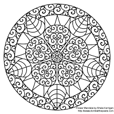 flower mandala coloring pages kids coloring