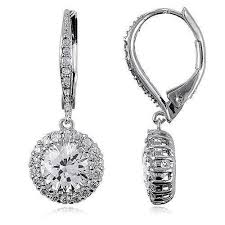 leverback diamond earrings leverback earrings ebay