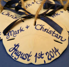 personalized sand dollars wedding favors ornaments personalized calligraphy sand