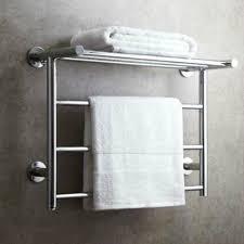 modern silver 304 stainless steel electric towel rack towel bar