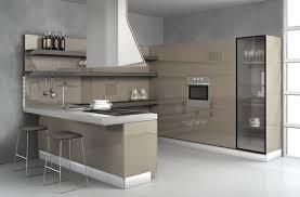 cuisine laquee cuisine en l gris beige laquée cuisineaviva kitchen
