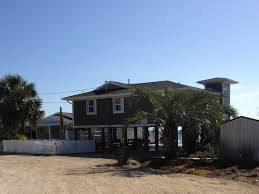 Small Beach House On Stilts Millington Cottage Oceanfront Home On Stilt Vrbo