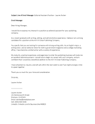 Business Letter Format Email Attachment sample email cover letter inquiring about job openings