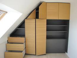 Fabriquer Placard Sous Pente De Toit Meuble Sous Pente Ou Sous Escalier Sur Mesure Dessinetonmeuble