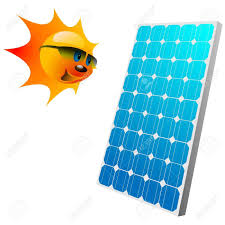solar panels clipart illustration of the sun and solar panels royalty free cliparts