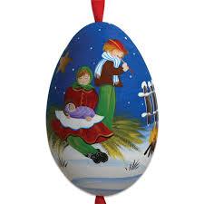 children painted signed turkey egg ornament
