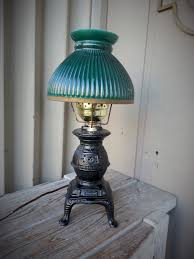 Pot Belly Stove With Glass Door by Pot Belly Stove Lamp With Green Glass Shade