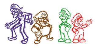 mario characters sketches ratchetmario deviantart