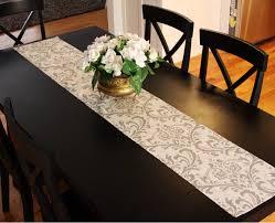 white and grey damask table runner modern damask buffet server