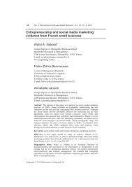si e social toulouse entrepreneurship and social media pdf available
