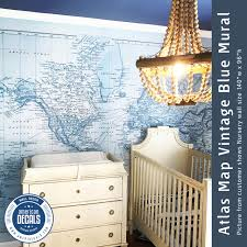 Fabric Wall Decals For Nursery Nursery Wall Decal Mural Vintage World Atlas Map Wallpaper Roll
