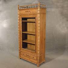 antique large tall pine display cabinet bookcase antiques atlas