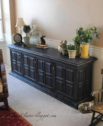 pottery barn look classic black console makeover classy clutter