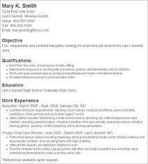 What To Put On A Babysitting Resume How To Describe Babysitting On Resume Resume Ideas