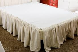 Burlap Bed Skirt Diy Gathered Bed Skirt From A Drop Cloth Tidbits