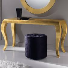 Gold Console Table High End Italian Gold Leaf Console Table Juliettes Interiors