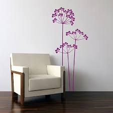 stylish rose wall sticker funky flower wall decor cow parsley wall sticker