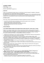 Linux Administrator Resume 1 Year Experience Cv Linux Systems Administrator Gaurav