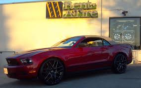 mustang 22 inch rims mustang on 22 falkens rent a wheel rent a tire