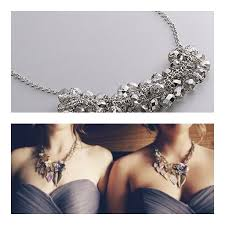 bridesmaid statement necklaces bridesmaids attire statement necklaces engaged inspired