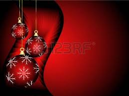 background illustration with baubles on a backdrop