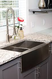 Kitchen Cabinets Black And White by Decorating Interesting Kitchen Decor Ideas With Cozy Houzer Sinks