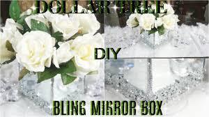 Glam Home Decor Diy Dollar Tree Bling Mirror Box Diy Glam Mirror Room Decor