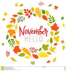 hello november wreath vector card stock vector image 76273050
