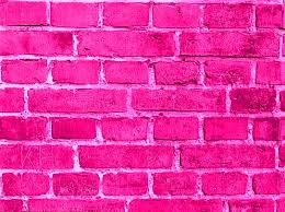 hot pink colour pink brick wall everthing pink pinterest bricks hot pink