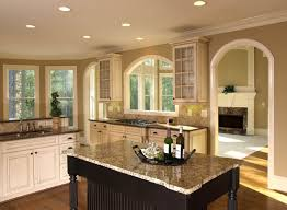 furniture contemporary kitchen with long brown kitchen counter