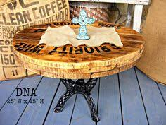 Cable Reel Table by Table Made From Old Cable Spool With Beautiful White Distressed