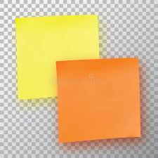 yellow and orange sticky note template for your projects stock
