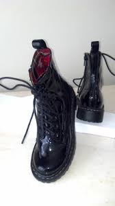 womens black combat boots target nwob black kailey patent combat boots target xhilaration