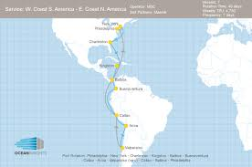 East Coast Map America by Maersk Takes Slots On Msc U0027s West Coast South America U2013 East Coast
