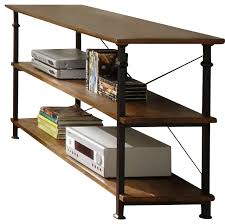 wood and metal console table with drawers likeable homelegance factory rectangular sofa table with wrought